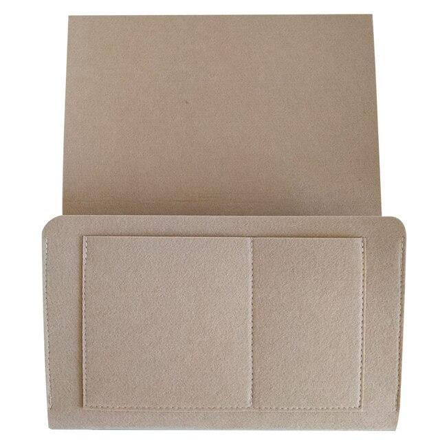 Accessories Tablet Sofa Bedside Hanging Organizer Solid Home Phone Holder Bedroom Storage Bag Large Book Felt Pocket Simple