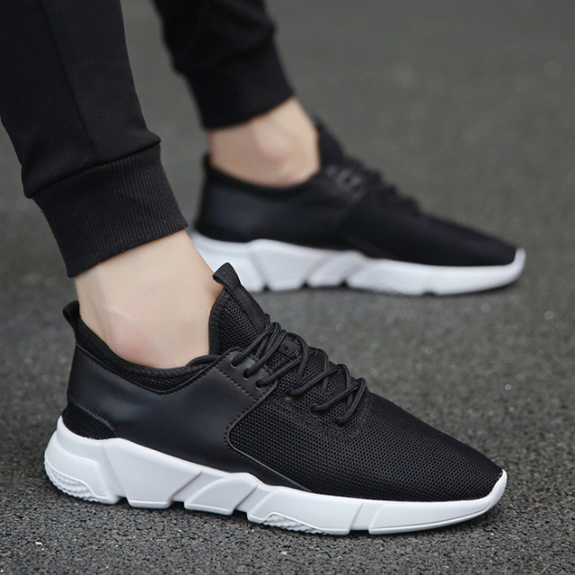 VRYHEID Size 36-44  Unisex Shoes Men Lightweight Men Casual Shoes Sneakers Comfortable Flat Male Outdoor Fashion Walking Shoes