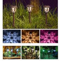 10pcs LED Garden Lawn Lamp Light Outdoor LED Spike Light Path Landscape Waterproof Spot Bulbs Landscape Solar Light Decorative