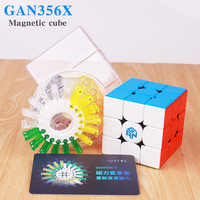 GAN 356 X Magnetic Magic Cubes Profissional Gan 356X Speed Cube Magnets Cube Puzzle GAN X Neo Cubo Magico gans356 X In Stock
