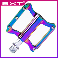 2019 BXT Aluminum Alloy Bicycle Pedals CNC MTB Road Cycling Bike Pedals Mountain bicycle parts Ultralight Sealed Bearing Pedals цена