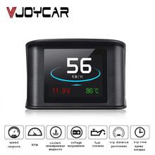 Vjoycar Hud Gps Obd Computer Auto Snelheid Projector Digitale Snelheidsmeter Display Brandstofverbruik Temperatuur Gauge Diagnostic Tool