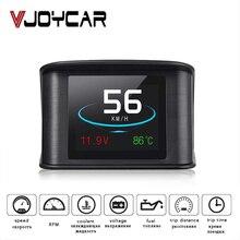 Vjoycar hud gps obd computador projetor de velocidade do carro digital velocímetro display consumo combustível medidor temperatura ferramenta diagnóstico