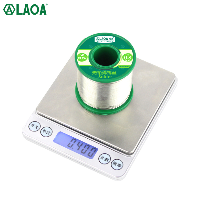LAOA Active Lead-free Solder Wire 0.8mm For Electric Soldering Iron Welding Belt Rosin Core Tin 99.3% Contained High Purity Tin