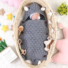 Baby Sleeping Bags Envelopes for Newborn Stroller Autumn Knitted Infantil Bebes Swaddle Sleepsacks Discharge Cocoon Cartoon Fox