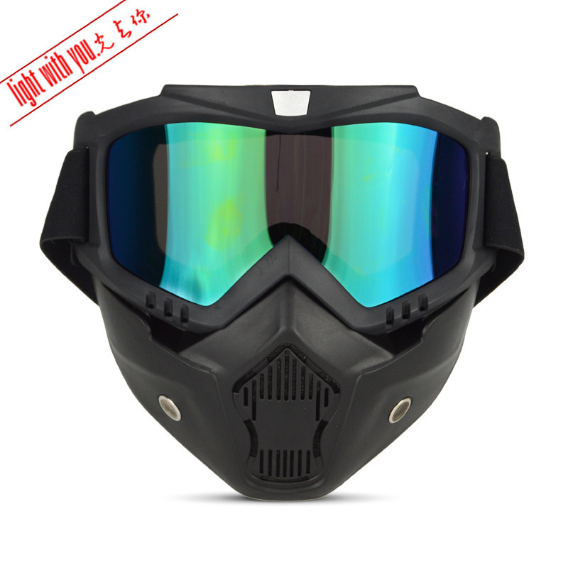 Windproof-Helmet Goggles Sun Glasses Strap Protective Case Bicycle Glass Goggles For Motorcycle Mask