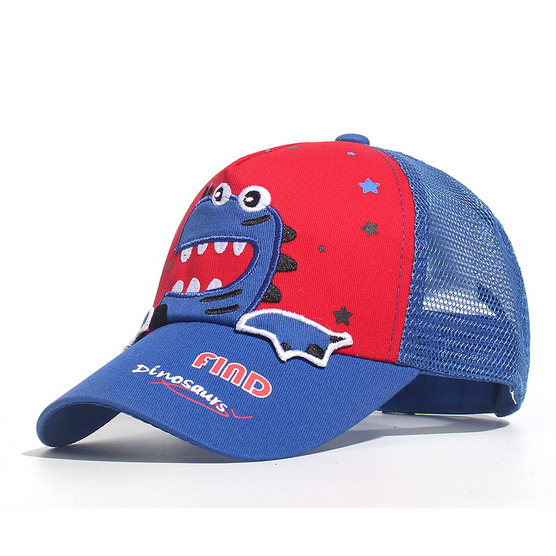 Children Shark Embroidered Baseball Cap Boy Girl Cute Universal High Quality Outdoor Kids Shade Animal Driver Mesh Sun Hats 2020