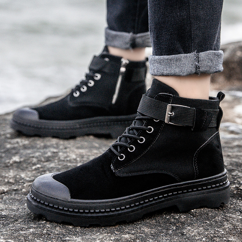 Winter Martens Boots Men Casual Shoes Man Leather PU Lace-up Leather Dr Boots Designer Sneakers Male Waterproof Non-slip Boots