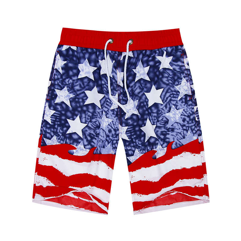 Early Summer Beach Shorts For Men Rigid And Striped Printed Bermuda Casual Kneecap Shorts Easily Dry Male Shorts