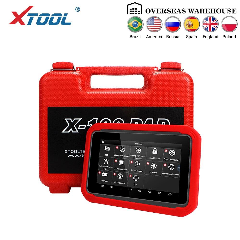 X100 PAD OBD2 Auto Programador Chave IMMO Leitor De Código de Scanner Automotivo Diagnóstico EPB BMS DPF Reset EEPROM Odômetro Atualização online