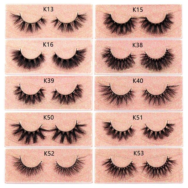 FOXESJI Makeup Eyelashes 3D Mink Lashes Fluffy Soft Wispy Volume Natural long Cross False Eyelashes Eye Lashes Reusable Eyelash 6