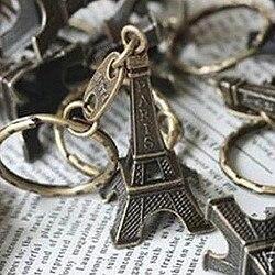 1pcs/set 3d Eiffel Tower French Souvenir Paris Keychain Cute Adornment Keyring Bronze Silver Golden Ornaments Free Shipping