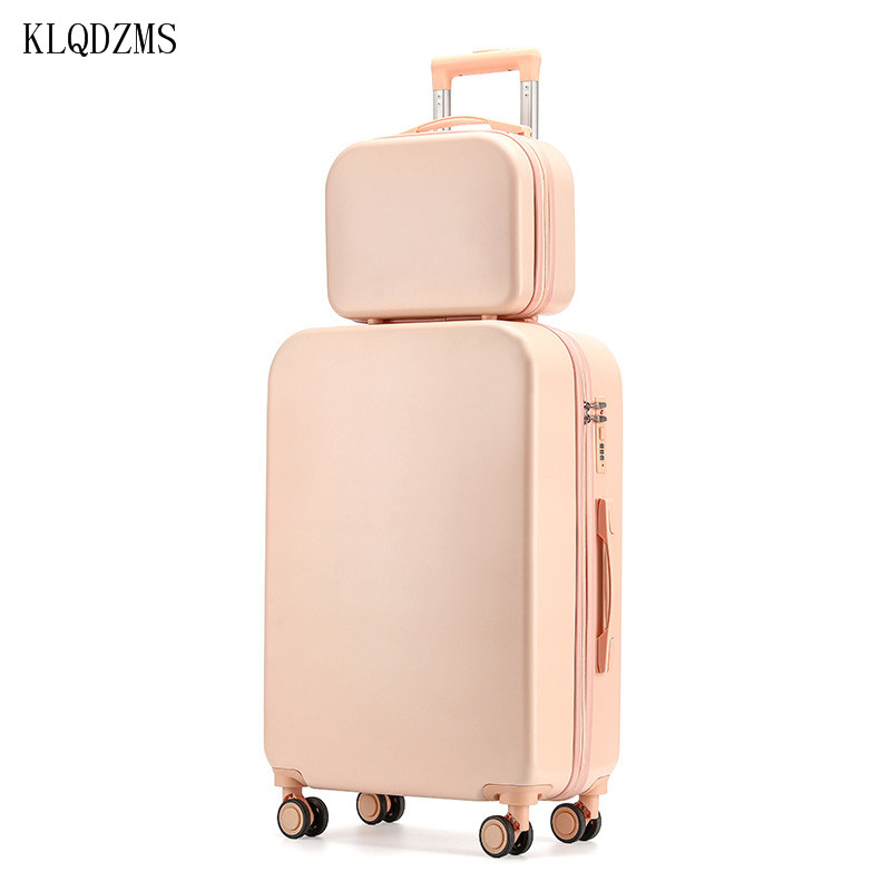 KLQDZMS 18''20''24''26 Inch  Student Luggage Woman's  Suitcase On Wheels  PC Creative Suitcase Set ABS Spinner Rolling Luggage