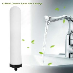 Image 2 - 2Pcs/Set 10 Inch Ceramic Filter Cartridge Washable Activated Carbon Water Purifier Replacement Universal Shower System Bathroo