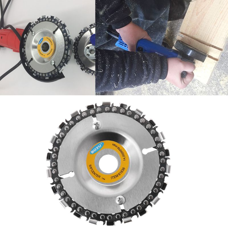 Wood Carving Disc Woodworking Chain Plate Angle Grinding Chain Wheel For Angle Grinder
