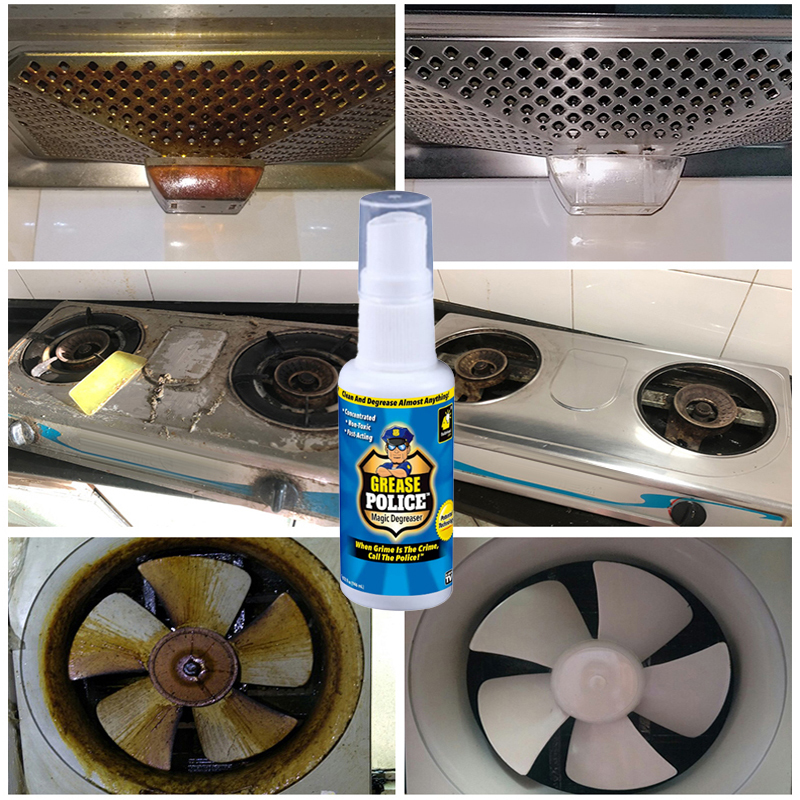 Grease Police Magic Degreaser Cleaner Spray Kitchen Home Degreaser Dilute Dirt Oil Cleaner Household Cleaning Chemicals Cleaner|All-Purpose Cleaner| |  - title=