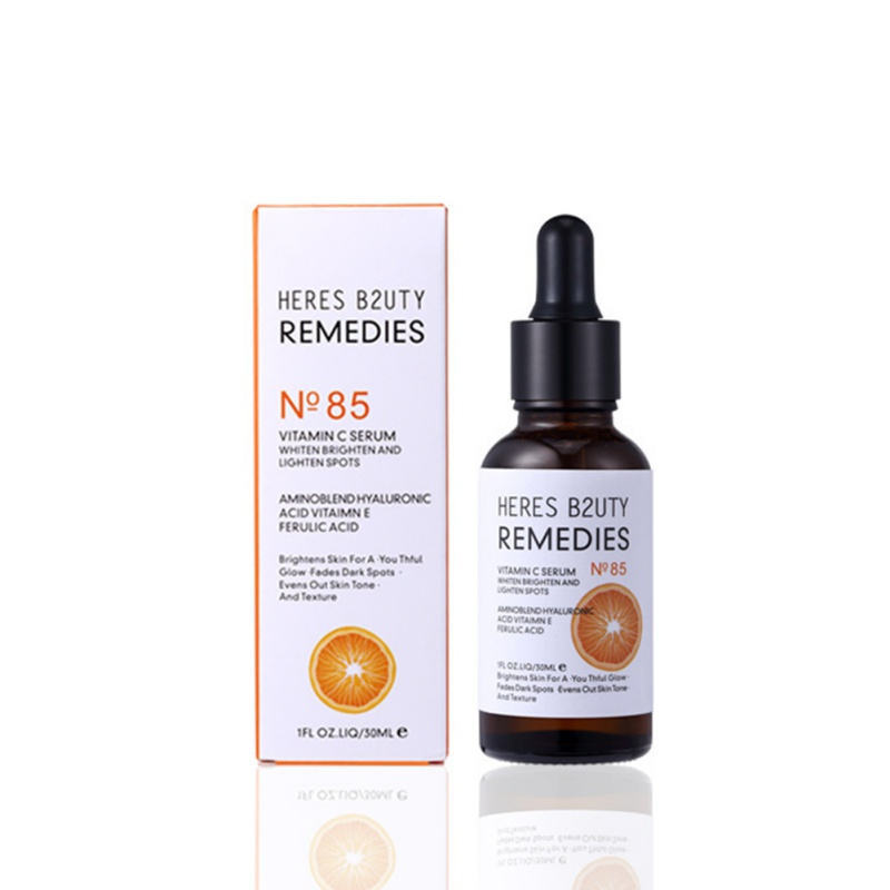 100% Pure Vitamin C + Hyaluronic Acid Smoothing Face Serum Anti-wrinkle Vc Face Whitening Essential Oil