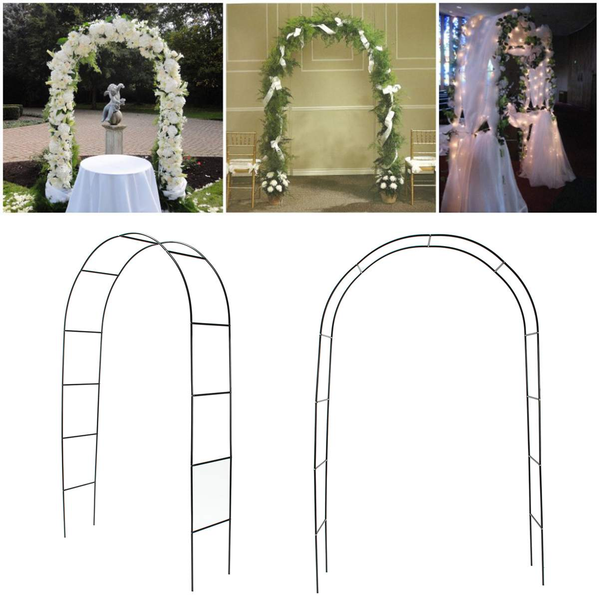 Wedding Arch Decorative Garden Backdrop Pergola Iron Stand Flower Frame For Marriage birthday wedding Party Decoration DIY Arch|Wedding Arches|   - AliExpress
