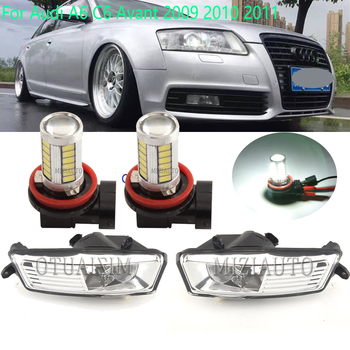 LED FOGLIGHTS for Audi A6 C6 A6/Avant 2009 -2011 Car Front Fog Light LampsDRL headlights day light Bumper Foglamp Assembly image