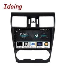 """Idoing 9 """"androidのカーラジオdsp dvdプレーヤースバルwrx 2016 2020ステアリングホイールgpsナビゲーション1080 1080pビデオ4グラム + 64グラムヘッドユニット"""