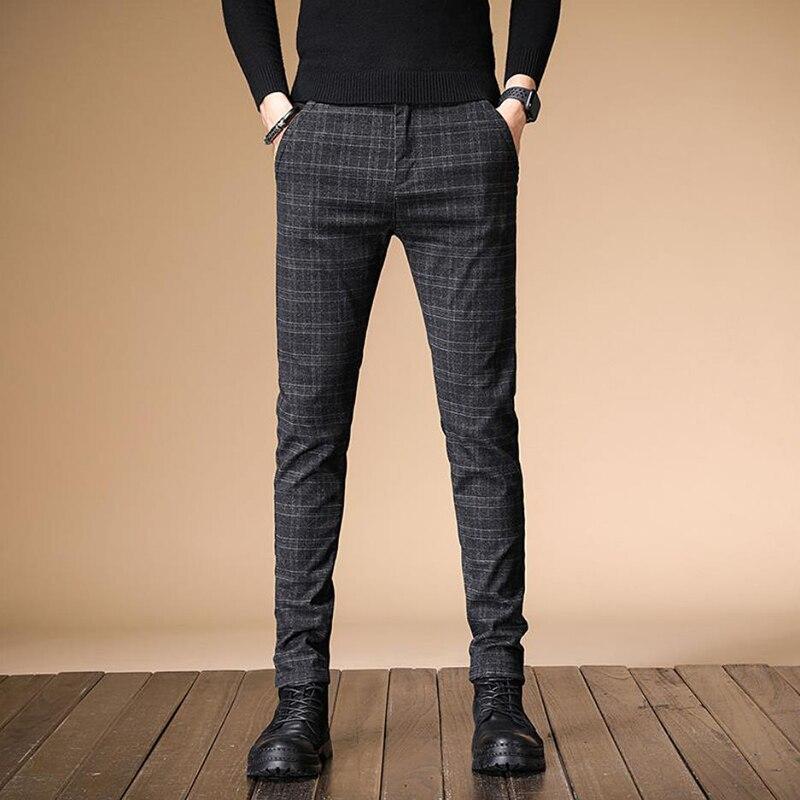 Image 3 - 2020 New Design Upscale Men Casual Pants Cotton and linen Slim Male Pant Straight Trousers Business Pants Men Plus Size 38Casual Pants   -