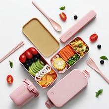 Ланч-бокс, японская микроволновая печь, Bento box, 850 мл, контейнер для хранения еды, портативный, для школы, пикника, герметичный, BPA бесплатно