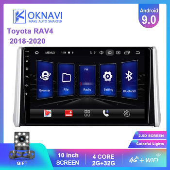 OKNAVI Android 9.0 Car Multimedia Video Player For Toyota RAV4 RAV 4 2018 2019 GPS Navigation Radio With 4G Wifi DSP 2 Din DVD image