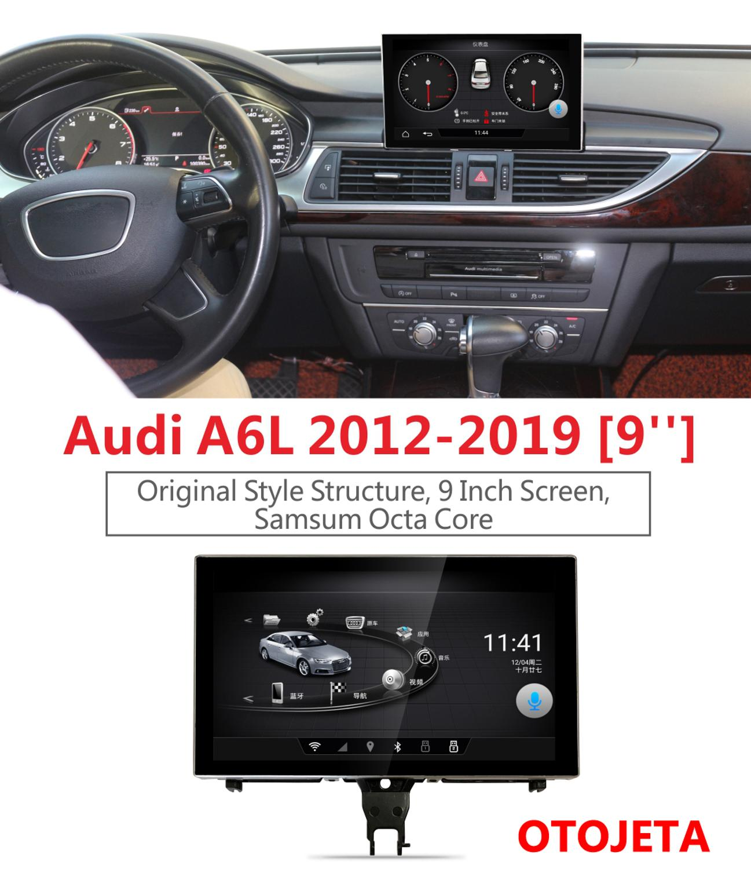 Astuto di GPS e di alta qualità di Navigazione per Audi A6L A6 2012-2019 full touch 9