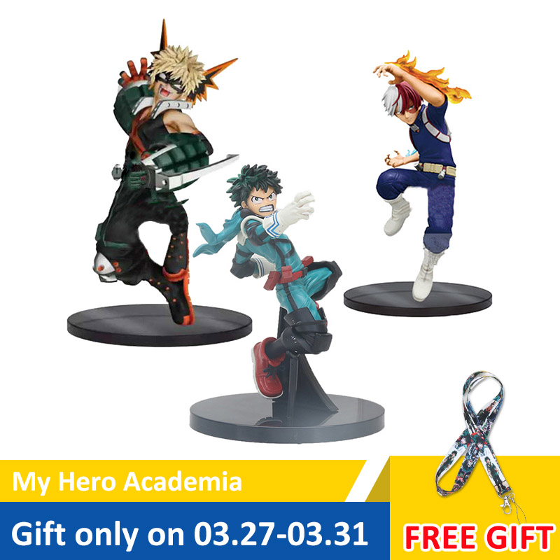 My Hero Academia Figure Toy Vol1. Smack Midoriya Izuku Shouto Todoroki Katsuki Boku No Hero Academia Model Figurals Toy 16cm