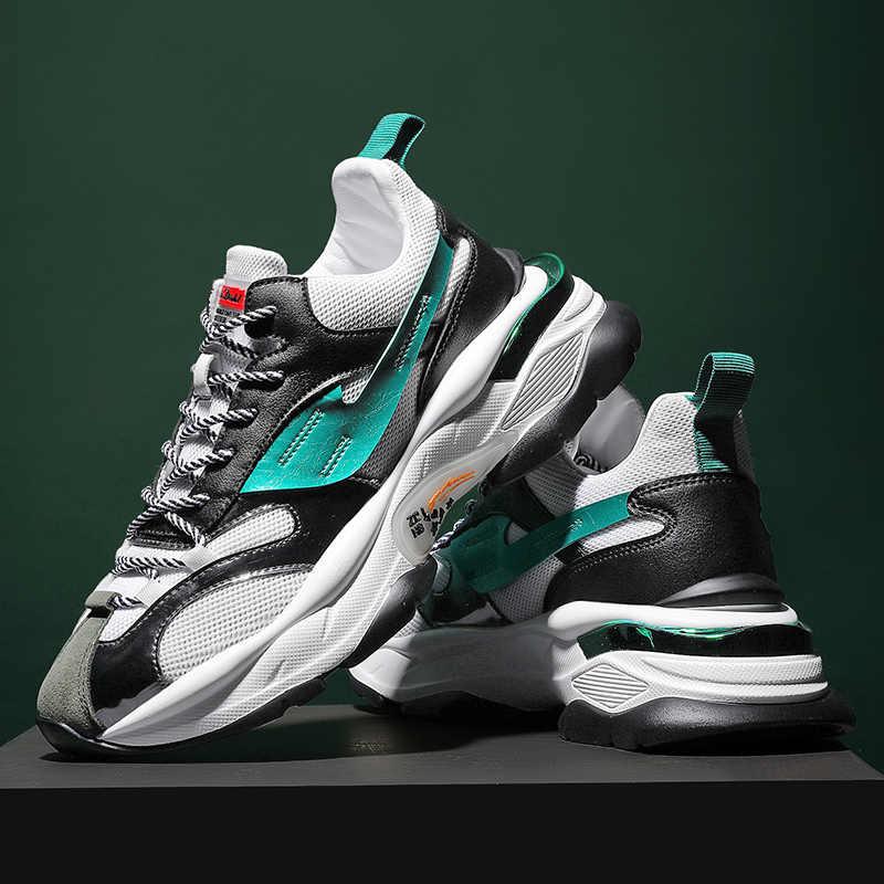 Marka Krasovki gündelik erkek ayakkabısı erkekler Sneakers nefes spor ayakkabısı Chaussure Homme rahat açık ayakkabı bırakarak