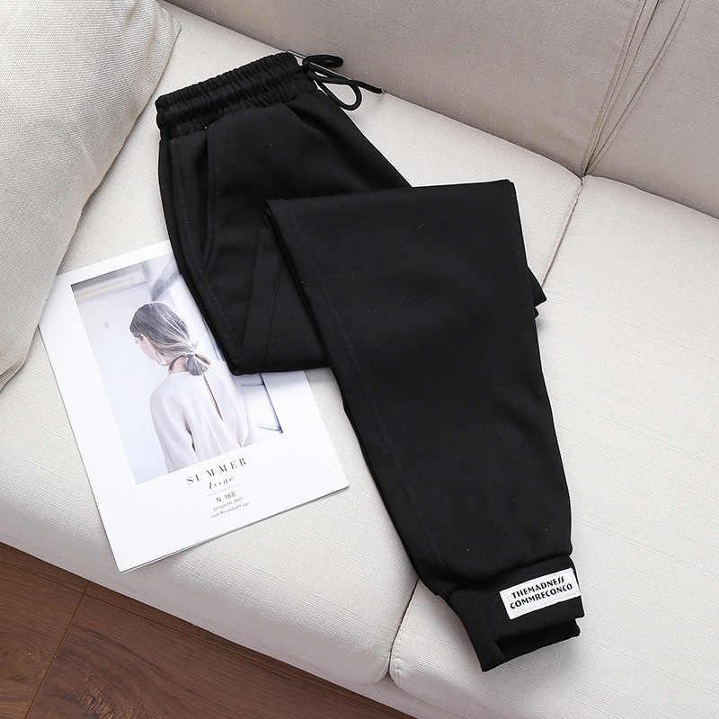 Pantolon kadın gevşek sweatpants rahat pamuklu pantolon kadın cep yüksek bel ince sonbahar eğlence toptan vestidos WBX9913