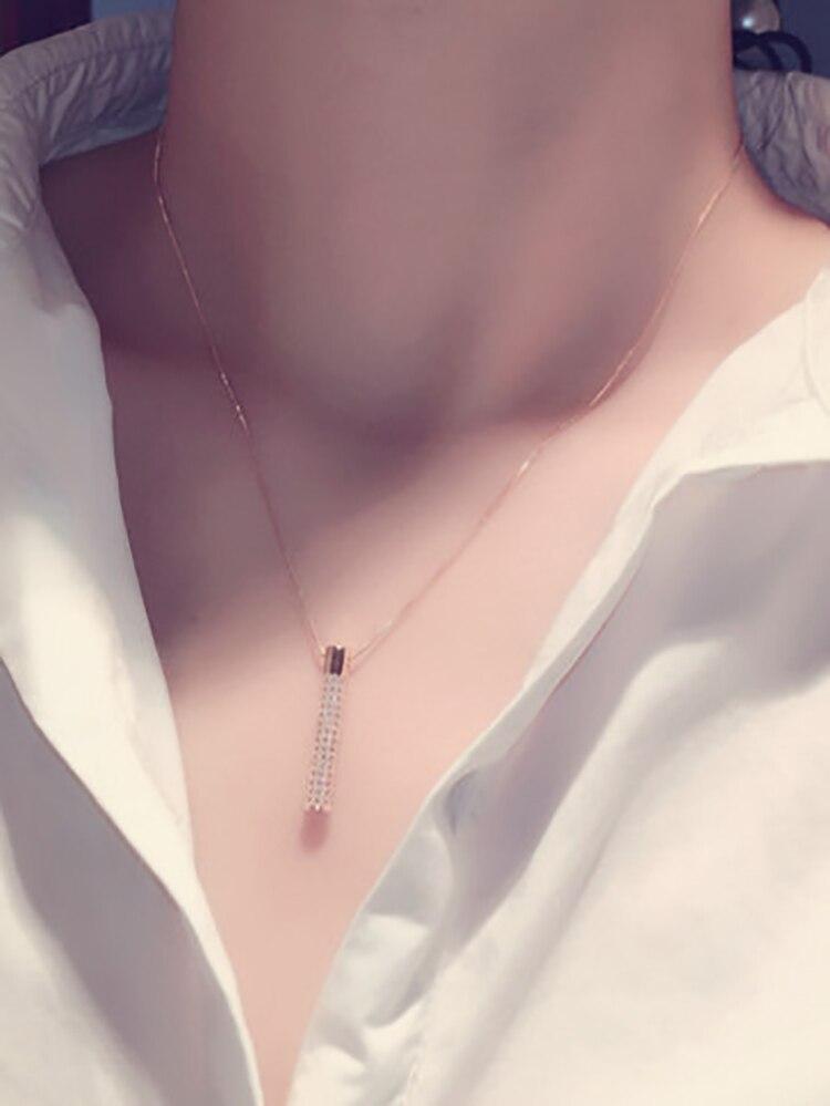 Nouvelle arrivée mode exquis or géométrique pendentif collier pour les femmes pavé incrusté CZ Zircon tour de cou bijoux de mariage cadeau 2