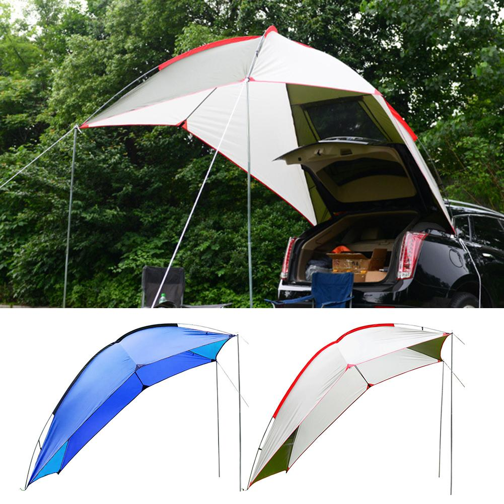 Outdoor Draagbare Tent Self Driving Tour Barbecue Multi Persoon Regen Vizier Tuinhuisje Strand Luifel Tent - 2
