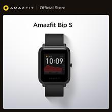 Stokta 2020 küresel Amazfit Bip S Smartwatch 5ATM su geçirmez GPS GLONASS Bluetooth akıllı saat Android iOS telefon için