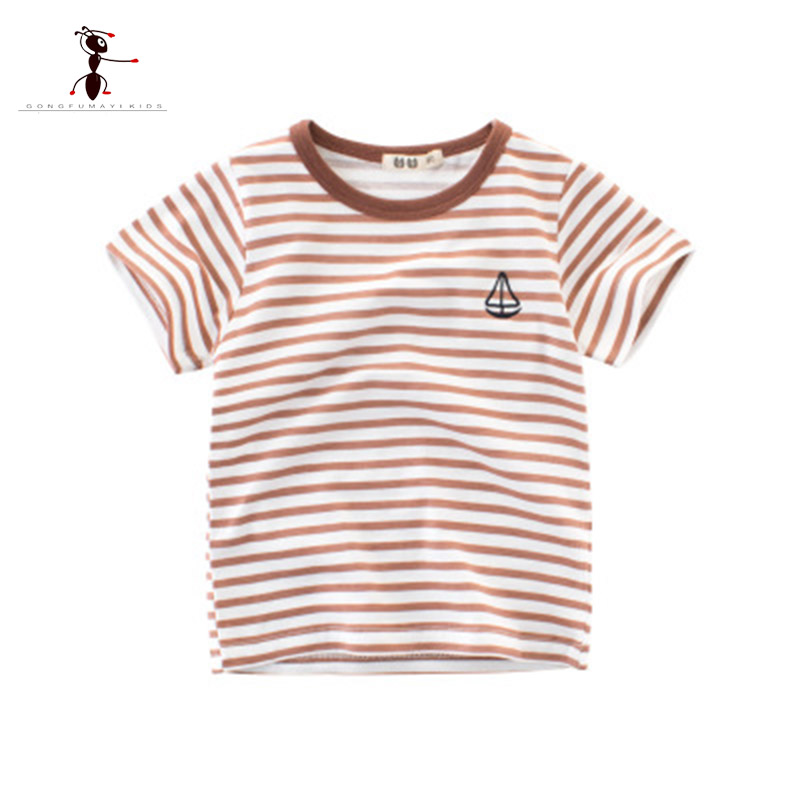 Kung Fu Ant printed <font><b>Baby</b></font> Children Boys T-<font><b>shirt</b></font> Short Sleeve Summer Cotton Tops T-<font><b>shirt</b></font> Children <font><b>Basic</b></font> Summer Clothes image