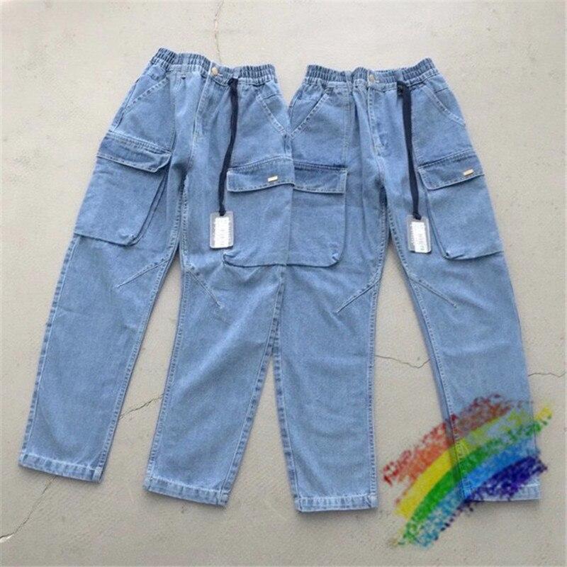 2020FW KITH Jeans Men Women 1:1 Top-Quality Streetwear Denim Pants KITH Cowboy Button Jeans
