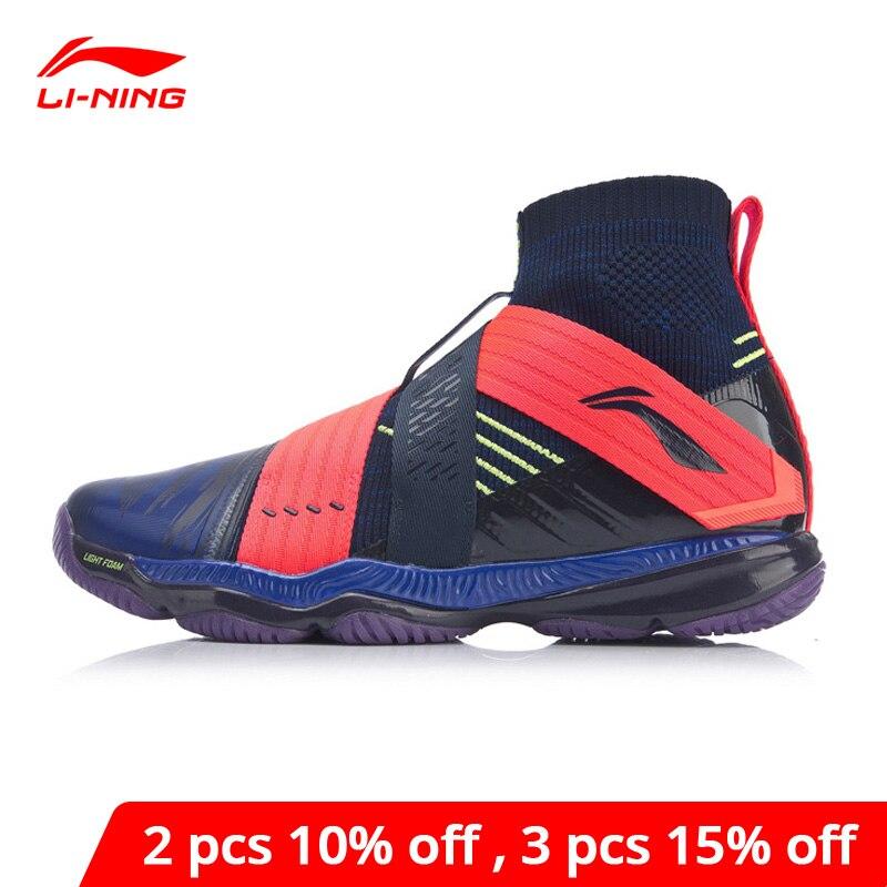 Li-Ning, Мужская профессиональная обувь для бадминтона RANGER 4,0, подстилка, светильник, подкладка из пены, li ning Cloud, спортивная обувь, кроссовки AYAP015 XYY135-0