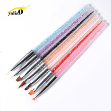 Get more info on the YALIAO 7pcs Nail Brush Set Dotting Painting Dotting Painting Gel Polish Brushes Tools Nail Art Brush For Nail Liner Painting