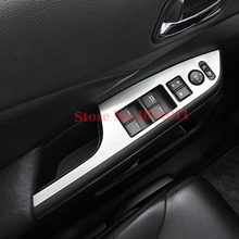 цена на For Honda CRV CR-V Accessories 2012 2013 2014 2015 2016 Stainless Steel Interior Door Window glass Switch Panel LHD Cover Trim