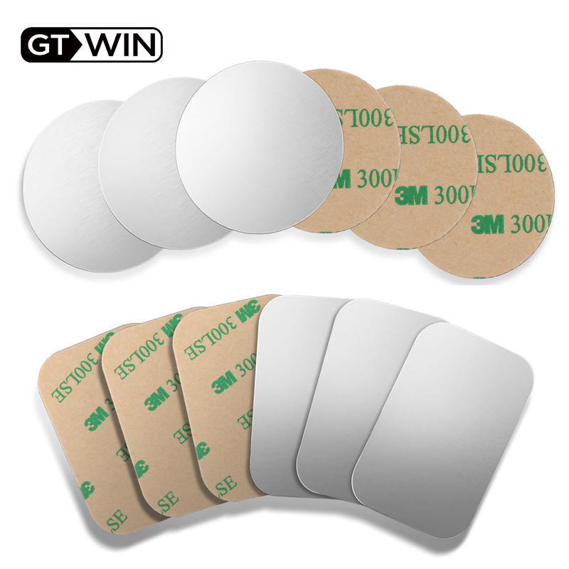 GTWIN 1pc/2pcs/4pcs/lot Metal Plate For Magnetic Car Holder Universal Iron Sheet Disk 3M Sticker Mount Mobile Phone Magnet Stand