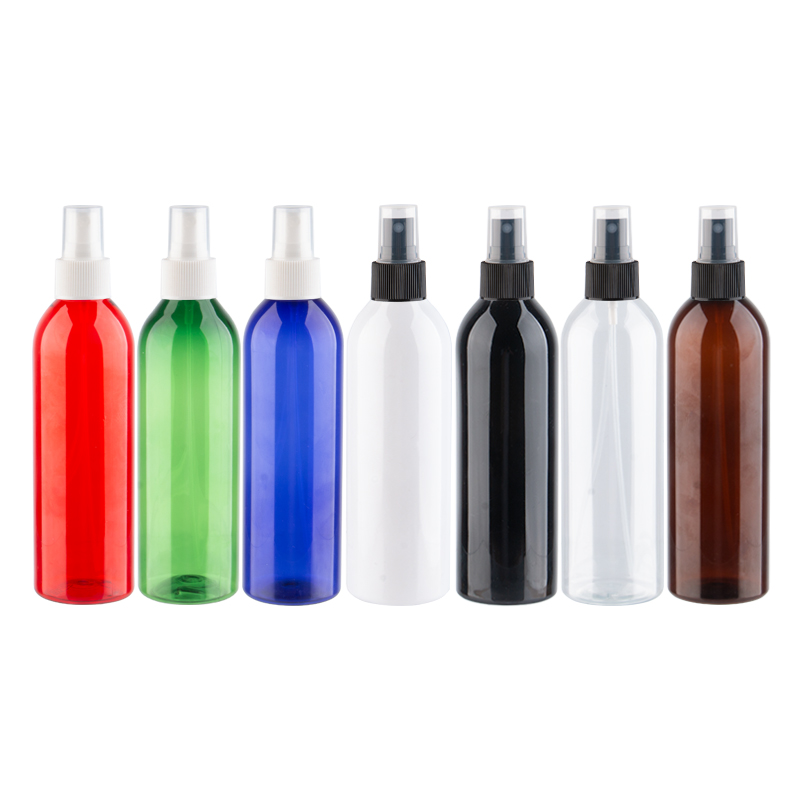 <font><b>250ml</b></font> Empty <font><b>Spray</b></font> <font><b>Bottle</b></font> Cosmetics Packaging Makeup Container With Mist <font><b>Spray</b></font> Pump Perfume Dispenser Wholesale 250cc Round image