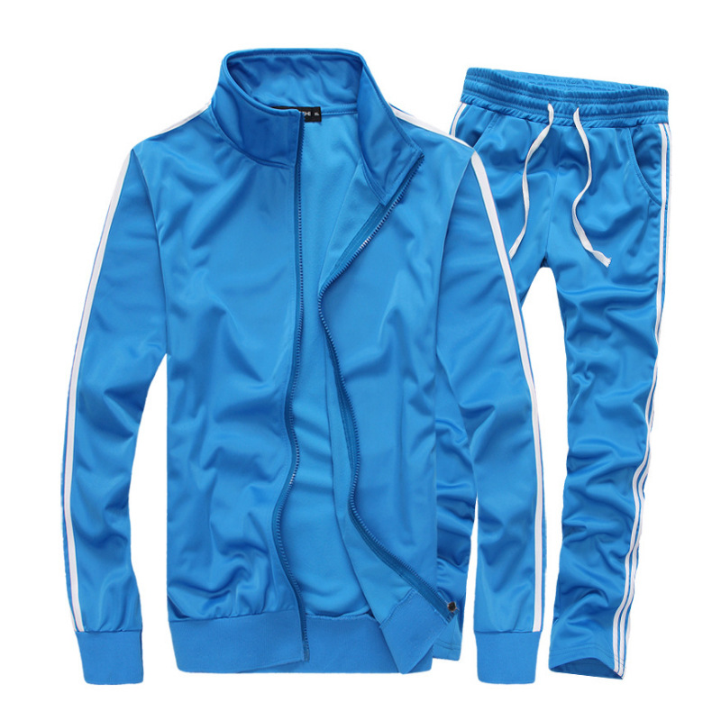MEN'S Suit 2019 Autumn And Winter New Style Set Casual Slim Fit Running Sports Two-Piece Set Occident Fashion Youth
