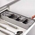 Prático gaveta organizador bandeja colher talheres separação acabamento caixa de armazenamento talheres organizador acessórios de cozinha organizador