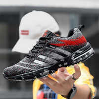 Men Running Shoes Couple Breathable Sports Sneakers Air Cushion Lace Up Walking Jogging Athletic Footwear Zapatillas Hombre New
