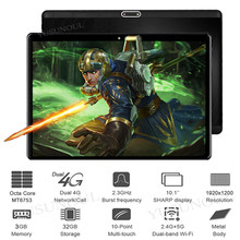 Hohe Version Super 2,5 D Glas 4G Anruf 10 zoll Tablet MT6753 Octa Core 1920*1200 IPS bildschirm Dual SIM Karte Android Tablet pc