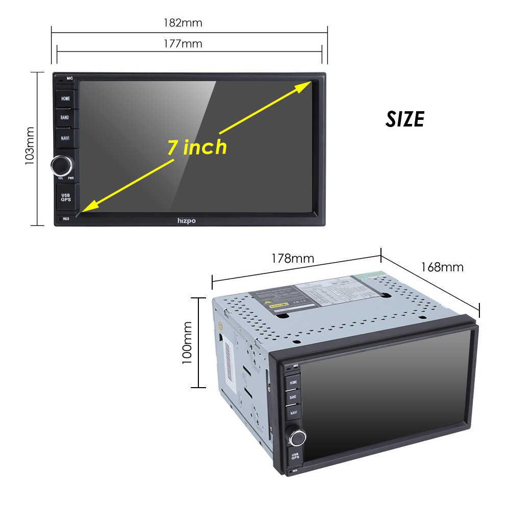 2Din 7 インチ Android9.0 Univeral 車ラジオ NO DVD プレーヤー GPS ナビゲーション Fm Rds マップ Wifi 4 グラム bluetooth ヘッドユニット OctaCore