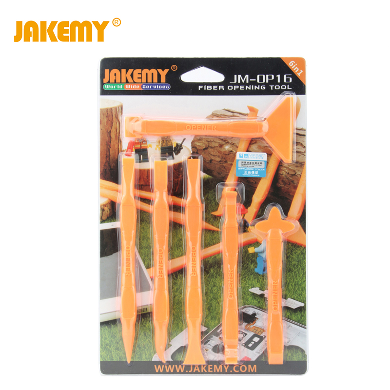 JAKEMY 9 In 1 Mobile Phone Repair Tools Anti-Static Fiber Screen Pry Opening Tools For Iphone IPad Tablet Computer