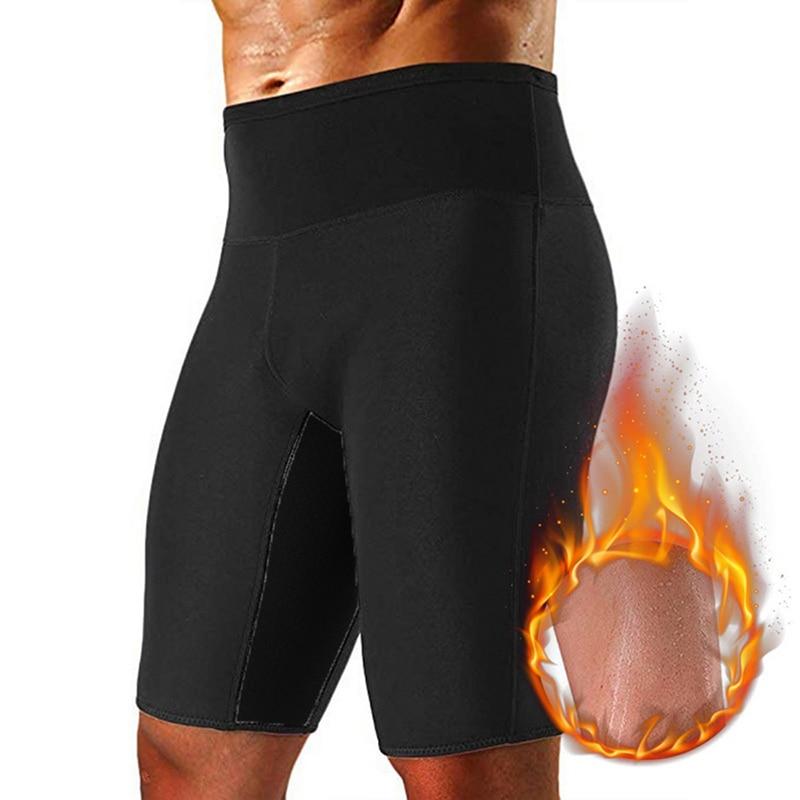 2020 Mens Weight Loss Sauna Sweat Thermo Shorts Body Shaper Athletic Yoga Gym Shorts Male Summer Sports Shorts Bermuda Masculina