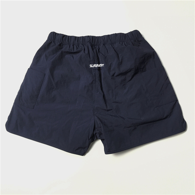 Best Version Blue Iridescent Belted Track Shorts Nylon Sweat Shorts Lined With Faux-suede 5