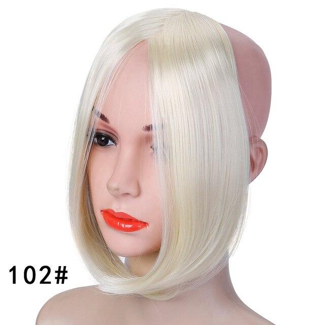 HOUYAN, модные длинные волосы на заколках спереди, боковая бахрома, накладные волосы, настоящие натуральные синтетические волосы с челкой - Цвет: 102